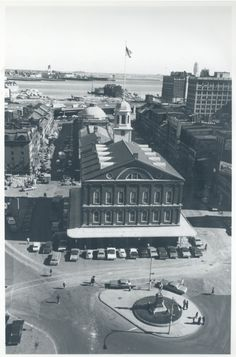 Faneuil Hall aerial view, circa Boston Landmarks Commission image collection, (Collection City of Boston Archives This work is licensed under a Creative Commons Attribution Boston Common, More Images, Aerial View, Image Collection, American History, Archive, United States, City, Creative