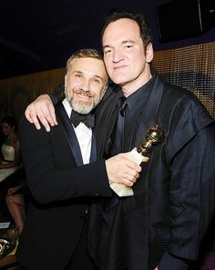 Christoph Waltz and Quentin Tarentino