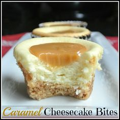 Mini Caramel Cheesecakes