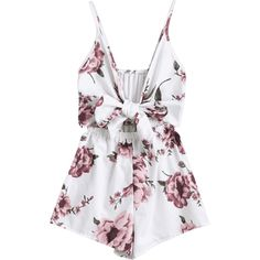 a30818d174  Wish  Zaful Sexy Women Playsuits Rompers Bohemian Floral Print Plunge  Spaghetti Strap Rompers Jumpsuits Summer Women Beach Playsuits
