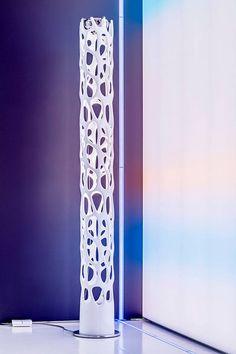 #NewNature floor lamp, #design Ross Lovegrove in our showroom in Zurich.