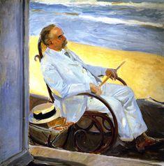 The Athenaeum - Antonio Garcia at the Beach (Joaquin Sorolla y Bastida - 1909)
