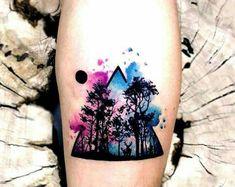 Ich liebe Aquarell-Tattoos Source tattoo designs, tattoo, s Dreieckiges Tattoos, Finger Tattoos, Body Art Tattoos, Small Tattoos, Sleeve Tattoos, Tattoos For Guys, Cool Tattoos, Tatoos, Diy Tattoo