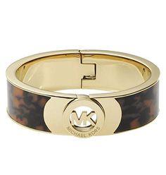 """Michael Kors MKJ2928 Fulton MK Logo Gold & Tortoise 1"""" Wide Bangle Bracelet Michael Kors http://www.amazon.com/dp/B00LBE1JO0/ref=cm_sw_r_pi_dp_K1QMvb0019S9K"""