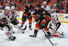 Patrick Maroon #19 of the Anaheim Ducks skates against the Chicago Blackhawks in Game One of the Western Conference Finals