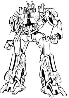 Optimus Prime Transformers Coloring Pages
