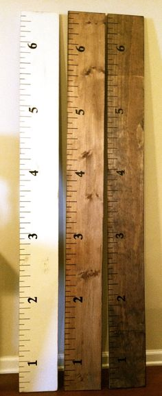 Wood Growth Chart for Kids. $65.00, via Etsy  I think I'll be doing this over winter break!