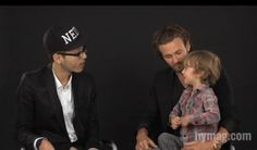 Still from model Brad Kroenig's interview with The Cut featuring his son Hudson