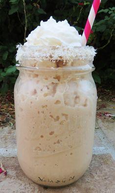 Coconut Mocha Frappe - dairy free, sugar free