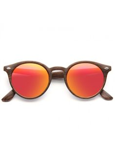Cheap Round Sunglasses | Grayson 2 Color Mirror Wood Grain Round Sunglasses | BleuDame.com Round Frame Sunglasses, Mirrored Sunglasses, Optician, Prescription Lenses, 2 Colours, Types Of Fashion Styles, Wood Grain, At Least, Color