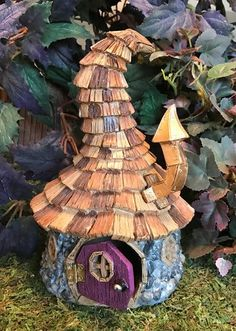 Miniature Wizard Shingled Fairy House