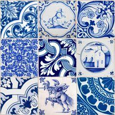 vlies photowallXL kleine tegeltjes delfts blauw - behang | ESTAhome.nl