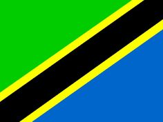 Flag of Tanzania Out Of Africa, East Africa, African Animals, African Safari, Flags Of The World, Places Around The World, African Great Lakes, Great Lakes Region, Thinking Day