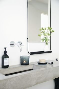 'Minimal Interior Design Inspiration' is a weekly showcase of some of the most perfectly minimal interior design examples that we've found around the web - all Bathroom Toilets, Laundry In Bathroom, Bathroom Inspo, Bathroom Interior, Bathroom Inspiration, Bathroom Ideas, Bathroom Sinks, Remodel Bathroom, Bathroom Designs