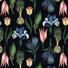 Dark color version of my botanical pattern available for purchase exclusively on » https://patternbank.com/katyarozz #patternbank  #newonpatternbank #pattern #patterns #design #botanical #interiordesign #textile #textiles #fashion #retro #flowers #floral #surfacepattern #surfacedesign #surfacepatterns #printandpattern #print #beautiful #delicate #instabeauty #instadraw #decor #stationery #clothes #floralprint #fabric IG: @katya.rozz