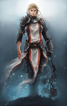 Female  human #paladin #cleric #fighter