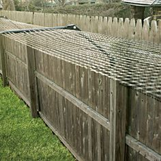 This is so cool! Let the cats outside! Cat-proof patio or yard using this 100' Kit for adapting Existing Fences!