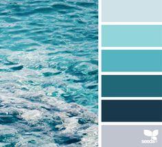 Design Seeds / Color Palette for Paints / Blues Coastal Color Palettes, Coastal Colors, Ocean Colors, Design Seeds, Colour Pallete, Colour Schemes, Deco Design, Home And Deco, Color Stories