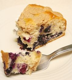 Blueberry Cake. (For that time when my little blueberry bush starts producing)