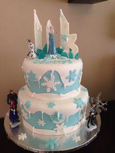 Frozen Birthday Cake By Iris Ortiz