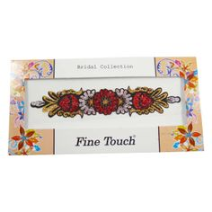 Beautiful Indian bridal women temporary tattoo with glitter Floral design. ..this is img
