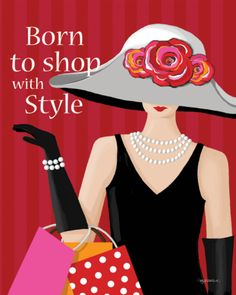 Born With Style Print by Kathy Middlebrook at eu.art.com
