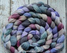 Rambouillet / soie Before the Storm 4 oz filature fibres