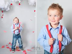 You can bring little boys and suspenders so cute.I have a Brown Suit Case.  Jaimeann Designs Photography Valentines Day Mini Clothing Ideas.