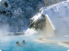 Bains de Saint Thomas à Fontpédrouse  Bains d'eaux chaudes naturelles quelque que soit la saison ou la météo.  www.gites-de-france-66.com