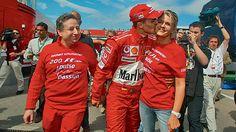 Michael Schumacher, Corinna Schumacher and Jean Todt