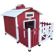 Advantek Country Barn Red Wooden Dog House $379.99