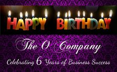 The O Company - Celebrating our Anniversary - Event Organisers and Décor Company in Cape Town 6th Anniversary, Event Organiser, Birthday Candles, Celebrities, Blog, Organization, Celebs, Blogging, Celebrity