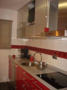 Las cocinas rojas | Decorar tu casa es facilisimo.com