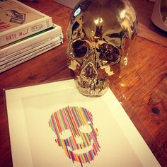 Gemma Banks shares her obsession with Skulls with Z Gallerie's gold Morton Skull.
