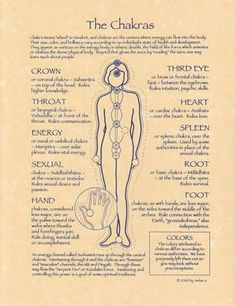 Chakra means wheel in sanskrit, and chakras are the centers where energy can flow into the body. This poster depicts and defines the chakras. Poster printed on x parchment paper. Chakra Meditation, Chakra Healing, Chakra Cleanse, Reiki Chakra, Guided Meditation, Sanskrit, Ayurveda, Kundalini Yoga Poses, Mudras