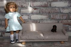 MADE: Pieces For Reese: American Girl Doll Furniture Couch DIY Part 1