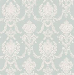 Trailing Damask Pale Blue wallpaper by Albany
