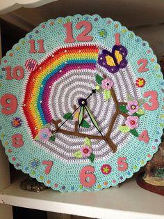 Ravelry: Project Gallery for Crochet O'clock pattern by Matt Farci and Dennis… Crochet Wreath, Crochet Bunting, Love Crochet, Crochet Motif, Crochet Designs, Crochet Baby, Crochet Patterns, Crochet Ideas, Crochet Home Decor
