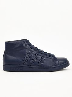 detailed look 34649 1cacf Adidas x Opening Ceremony Mens Navy Blue Baseball Stan Smith Sneakers    oki-ni Stan