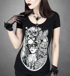 Camiseta Chica MC Rococo Cat Lady