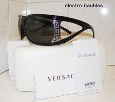 SOLD!!  Authentic VERSACE 4135B GB1/87 Sunglasses Black on Black  - Retail $280 #100AuthenticVersace #4135B