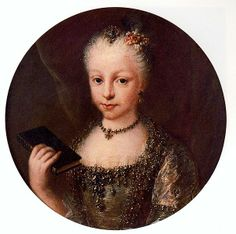 Portrait of Mariana Victoria of Spain, Queen Consort of Portugal 18th century