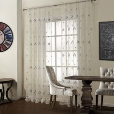 Floral Country White sheer Curtains  #sheer #sheercurtain #custommade #curtains #homedecor