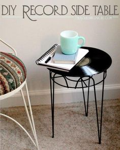 so nice, record side table