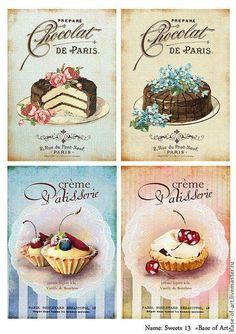 Sweets for the Soul Vintage Tea, Vintage Labels, Vintage Ephemera, Vintage Cards, Vintage Paper, Decoupage Vintage, Decoupage Paper, Vintage Prints, Vintage Posters