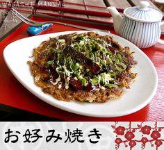 Vegan Okonomiyaki mit Tofu Bacon - Wagashi Maniac