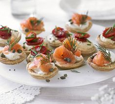 These perfect party tartlets are a great make-ahead starter for a fancy Sunday lunch, from BBC Good Food. Vol Au Vent, Tapas, Bbc Good Food Recipes, Cooking Recipes, Tart Recipes, Pear Relish, Tee Sandwiches, Peach Syrup, High Tea