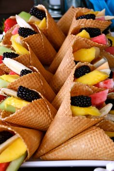 Baby Shower: Fruit Cones | Flickr   Photo Sharing!