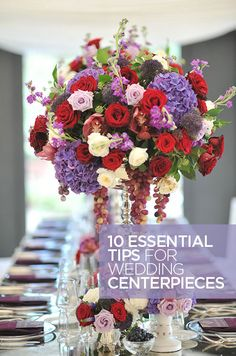 Ideas for Wedding Centerpieces, Reception Tables, Flowers    Colin Cowie Weddings