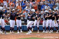 """Senior RHP/1B Lauren Haeger On Castro's home run:  """"It was good. Bailey came up to me after I hit mine. She said, 'I'm so proud of you. That's my dream, to hit a homer on senior day,' and then she goes out and does it. She was so excited, and I was just so happy for her. She keeps my fire fueled. She's always nipping at my heels, but she's doing a great job. I love her."""""""